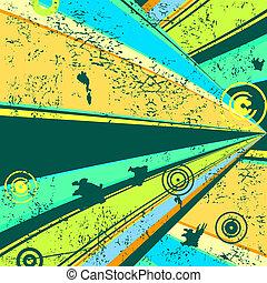 Retro grunge background (vector)