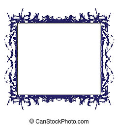 Retro grunge frame. Old graphic paint template