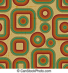 retro, grunge, seamless, pattern.