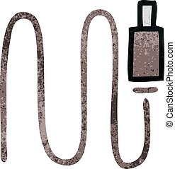 retro grunge texture cartoon audio wire