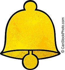 retro grunge texture cartoon brass bell