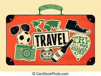 Retro grunge travel poster.