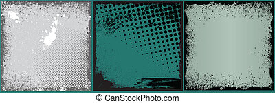 Retro Grunge Vector Backgrounds - Creative Abstract...