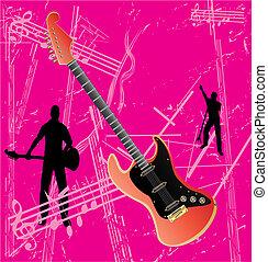 Retro Guitar Background
