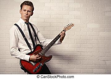 retro guitarist