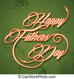 Retro Happy Father's Day greeting