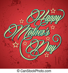 Retro Happy Mother's Day greeting