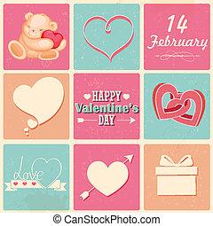 Retro Happy Valentines Day Background