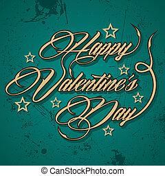 Retro Happy Valentines Day greeting