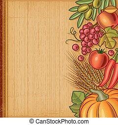 Retro harvest background