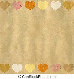 Retro Heart Background