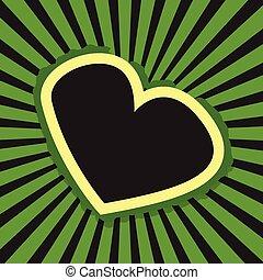 Retro Heart Banner Background