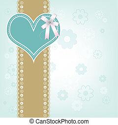 retro heart design background