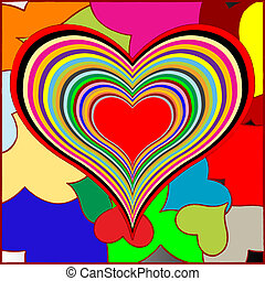 retro hearts