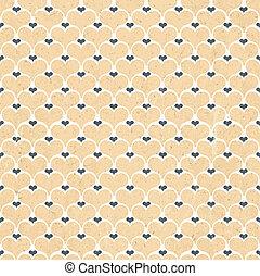 Retro hearts seamless background, vector