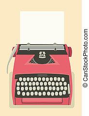 retro, hintergrund, schreibmaschine