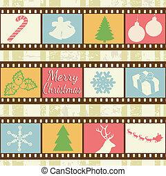 retro, hintergrund, weihnachten