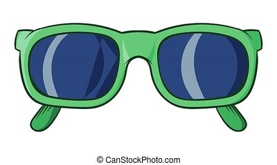 Retro hipster sunglasses icon animation cartoon best object isolated on white background