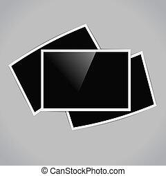 retro horizontal photo frames