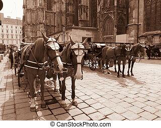 retro horse coaches