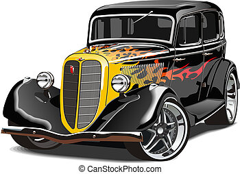 retro hotrod. Available EPS-10 vector format separated by groups and layers for easy edit
