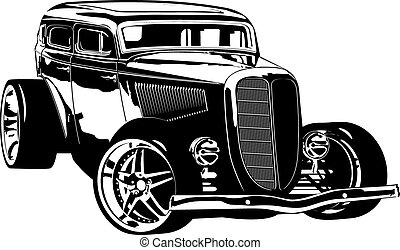 Retro Hotrod. Available EPS-8 vector format separated by groups and layers for easy edit