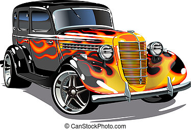 retro hotrod. Available EPS-8 vector format separated by ...