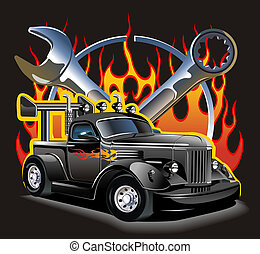 Retro hot rod. Available EPS-8 vector format separated by groups and layers for easy edit