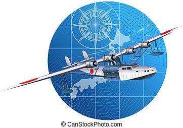 retro hydroplane 30-40s