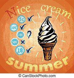 retro ice cream ads