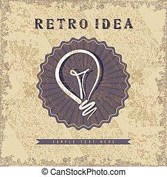 retro idea vector