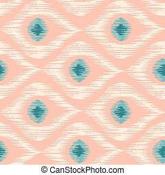Retro ikat pattern.