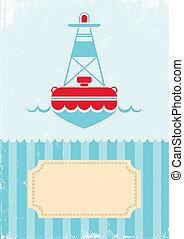 illustration of buoy