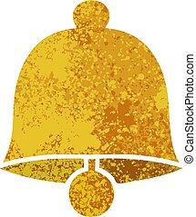 retro illustration style cartoon brass bell