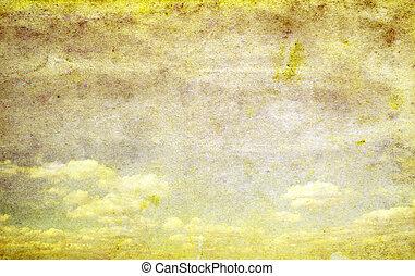 cloudy sky - retro image of cloudy sky