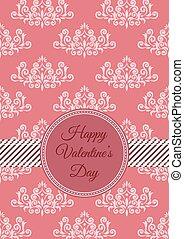 Retro inspired Valentine's day card