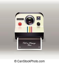 Retro instant camera vector