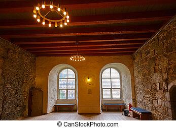 Retro interior in fortress - Bergen Norway