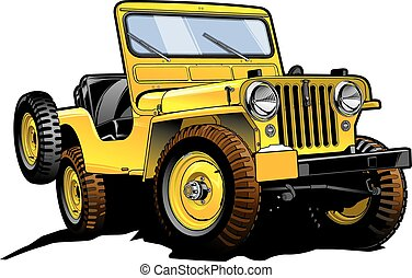 Really great vector drawing of offroad willy's Jeep