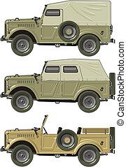 retro jeep set