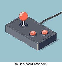 Retro joystick gamepad icon.
