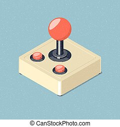 Retro joystick gamepad icon.