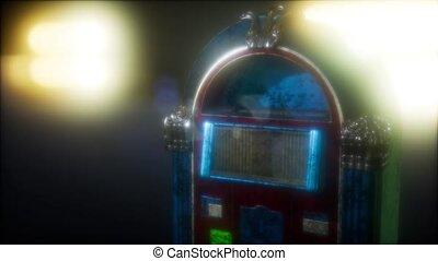 retro, juke-box, sombre