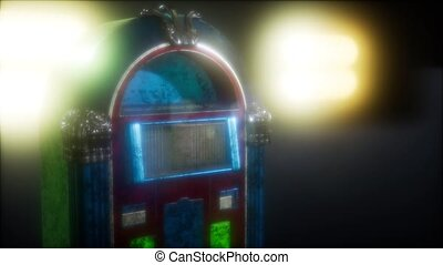 retro jukebox in the dark