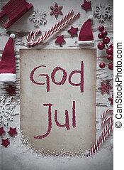 retro, jul, lejlighed, lægge, sne, gud, jul, betyder,...