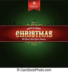 retro, jul ornament, bakgrund