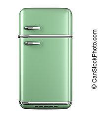 retro, køleskab