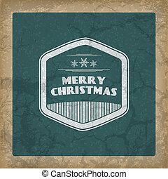 retro, karácsony, háttér