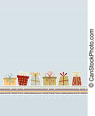 retro, kerstmis, achtergrond