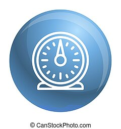 Retro kitchen timer icon, outline style